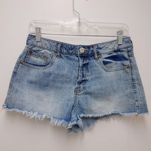 Forever 21 Button Fly Distressed Jean Shorts 27